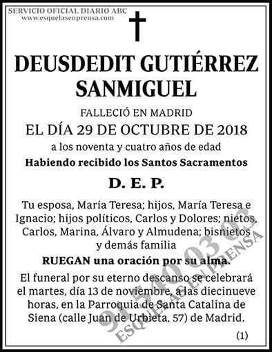 Deusdedit Gutiérrez Sanmiguel
